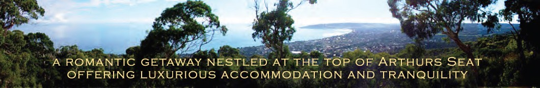 A romantic getaway nestled at the top of Arthurs Seat offering luxurious accommodation and tranquility.